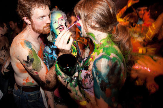 Paint party naked